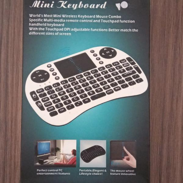 Mini teclado bluetooth/wi-fi
