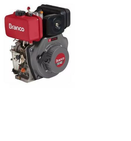 Motor diesel 7cv partida elétrica eixo horizontal - branco