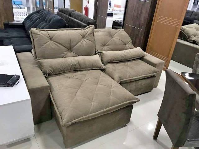 Sofá ret-6185 - sofá retrátil e reclinável 2 mt de molas