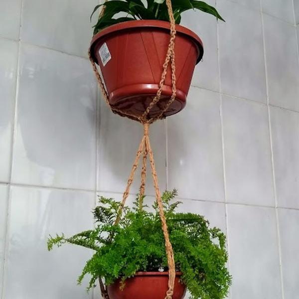 Suporte duplo para plantas