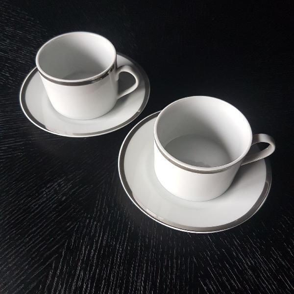 Xícaras de porcelana luxo café / chá
