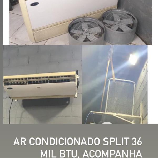 Ar condicionado split 36 mil btu, acompanha controle remoto,