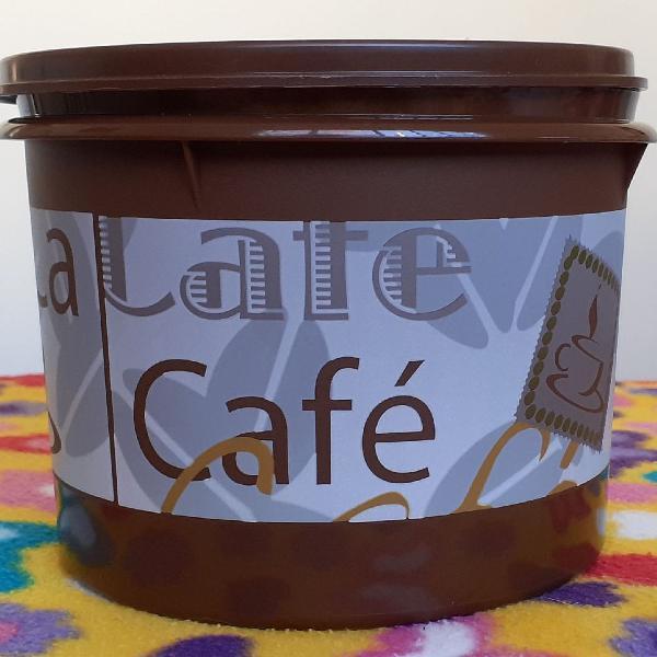 Caixa para café marrom