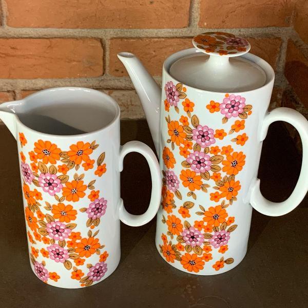 Conjunto de café porcelana médaillon