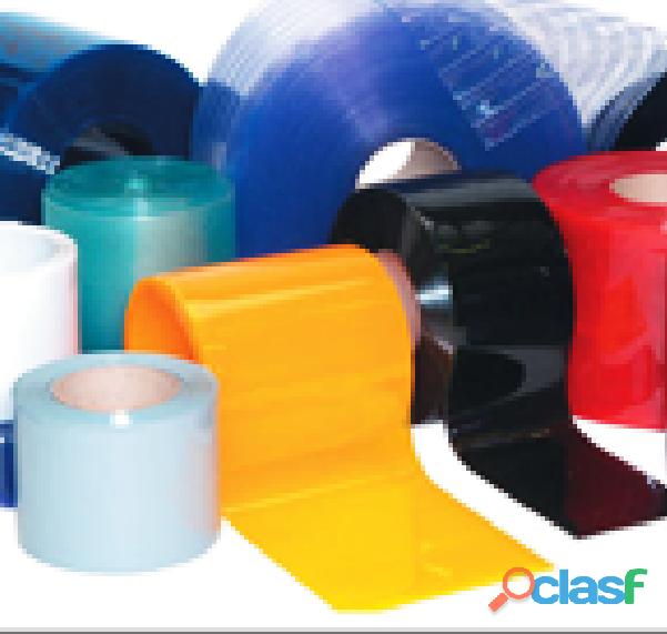 Cortinas em tiras de PVC flexível