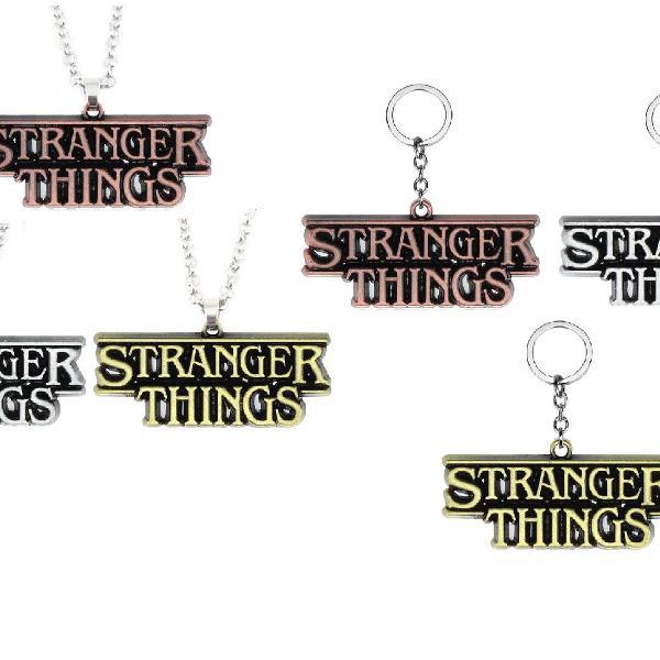 Kit 3 chaveiros e 3 colares stranger things