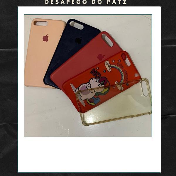 Kit 5 cases/capas iphone 7plus/8plus