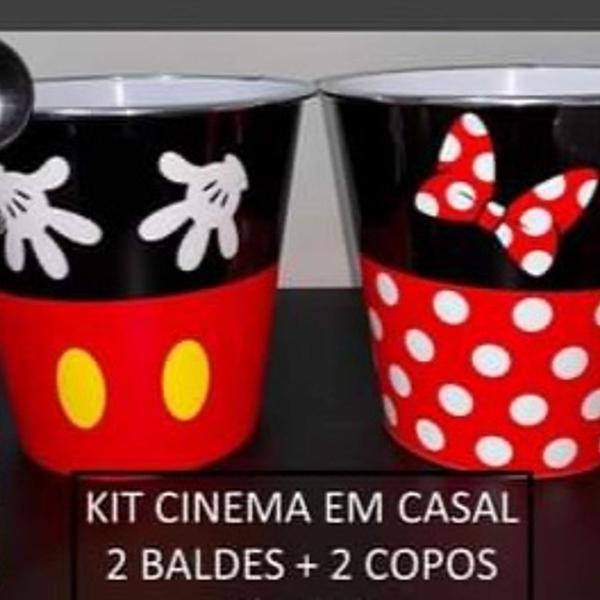 Kit cinema em casal mickey e minnie