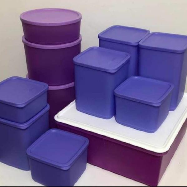 Kit de refri line com 11 peças tupperware
