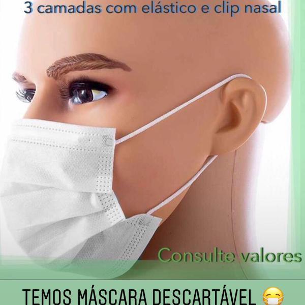 Máscara descartável 3 camadas caixa c 30