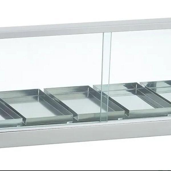 Stufa vitrine curva para salgados 5 bandejas edanca inmetro
