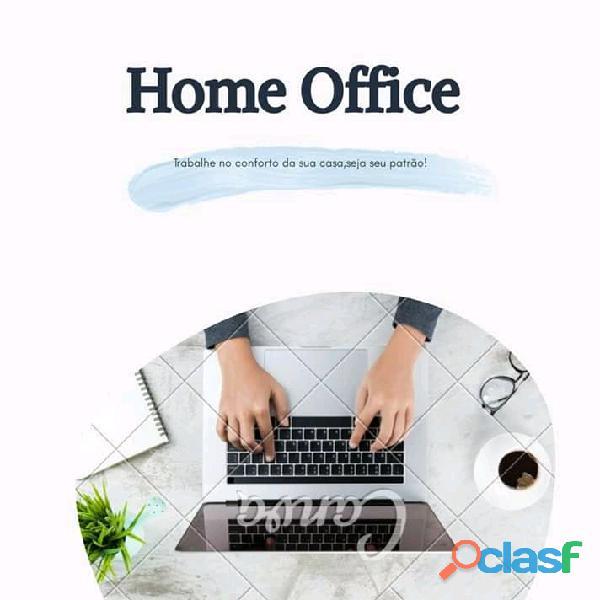 Trabalha em home office