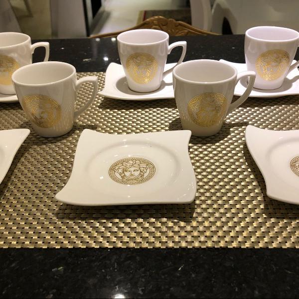 Versace - top conjunto de xícaras cafezinho . 12 peças. 6