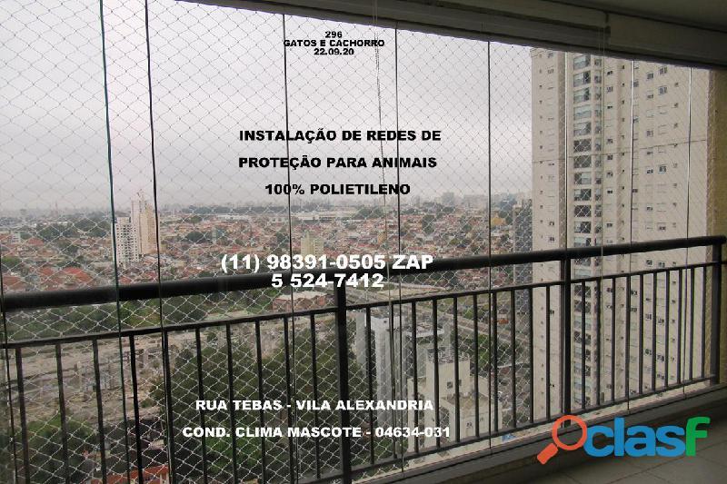 Telas de Proteção na Vila Alexandria, Rua Tebas , (11) 98391 0505, zap