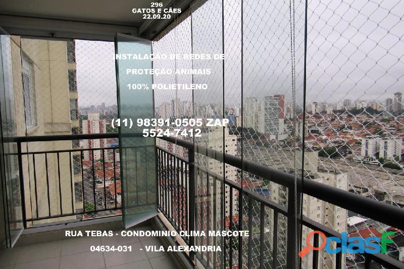 Telas de Proteção na Vila Alexandria, Rua Tebas , (11) 98391 0505, zap 3