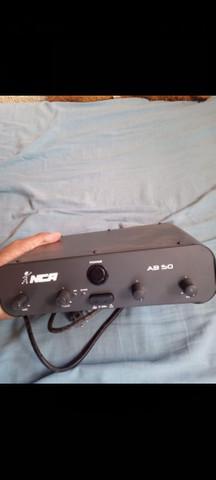 Amplificador potência nca som música ambiente 50w, ab50 r4