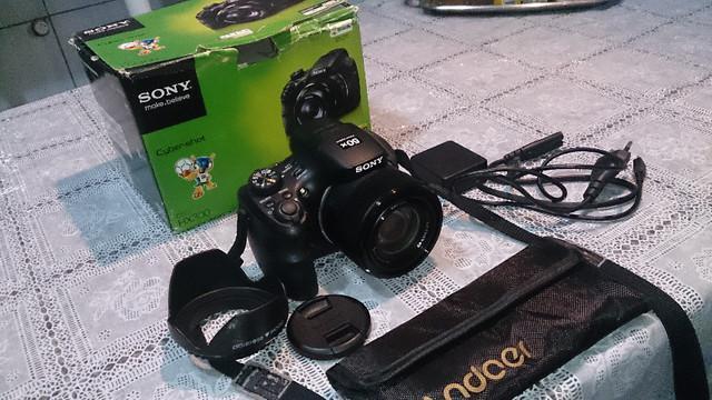 Camera sony cyber-shot dsc-hx300 câmera cybershot semi