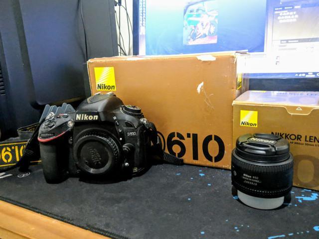 Câmera nikon d610 full frame + lente 50mm nikon