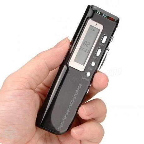 Gravador de voz digital espião com 8gb memória digital