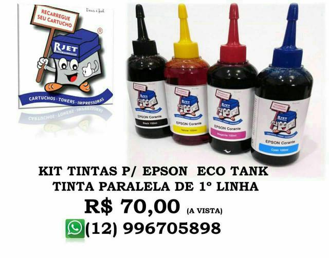 Kit tinta paralela de 1º qualidade - epson / hp / canon