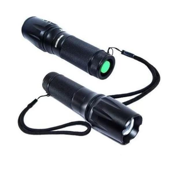 Lanternas tática militar x900 recarregável police zoom