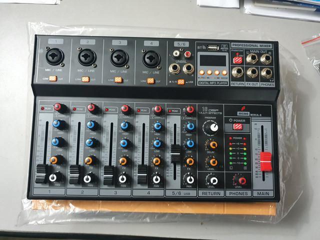 Mesa de som arcano minia-6 usb bluetooth live gravação