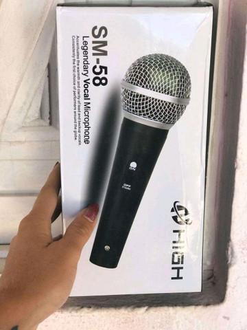 Microfone com fio Sm-58-entregamos em domicílio