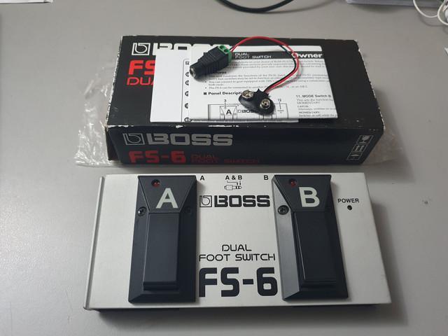 Pedal dual foot switch boss fs-6 com adaptador de fonte 9v