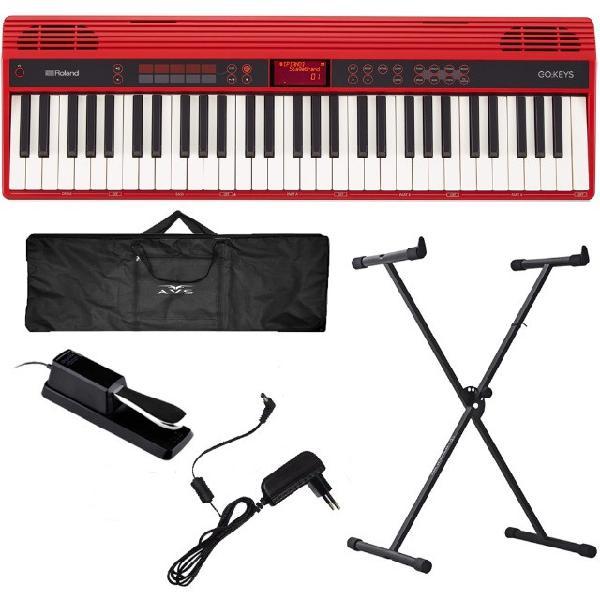 Piano digital roland go keys go61k bluetooh 61 teclas + kit