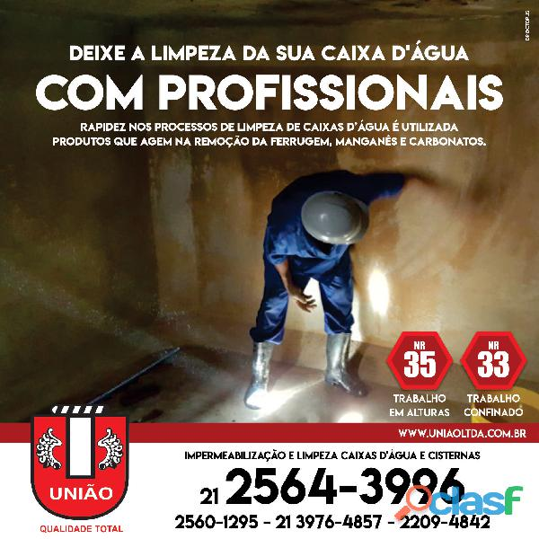 Limpeza de caixa d'água e cisterna no Rio de Janeiro
