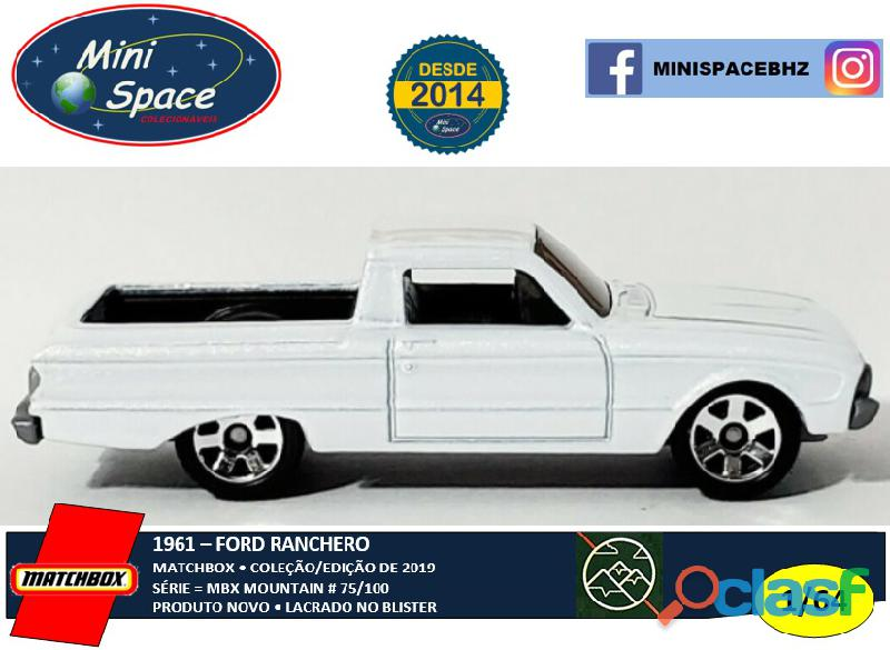 Matchbox 1961 Ford Ranchero cor branco 1/64