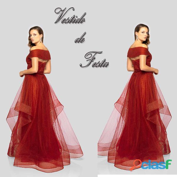 Vestido vermelho da loja CASA DO VESTIDO NOVO