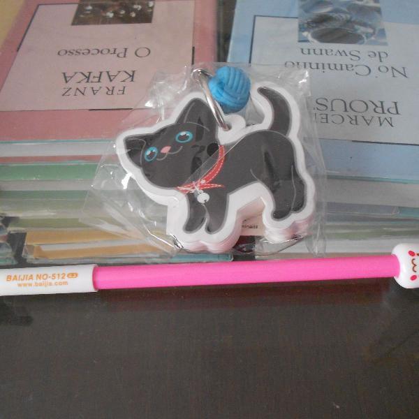 Bloco e caneta gatinho