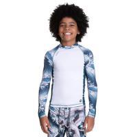 Camiseta de manga longa infantil com proteção solar uv50+