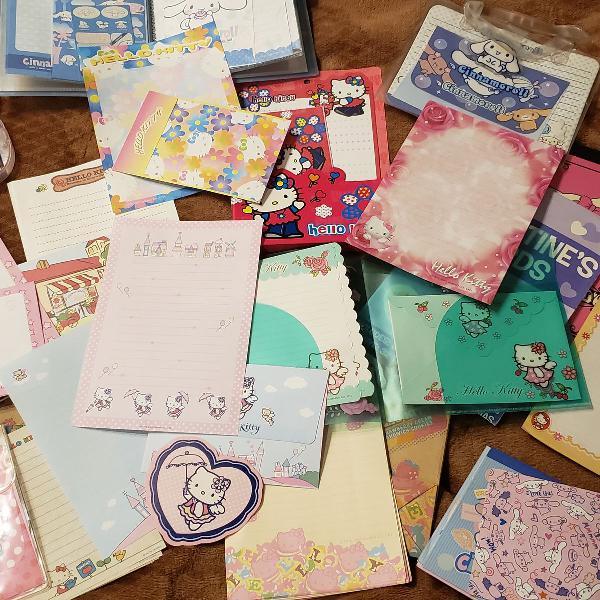 Coleção de papel de carta sanrio