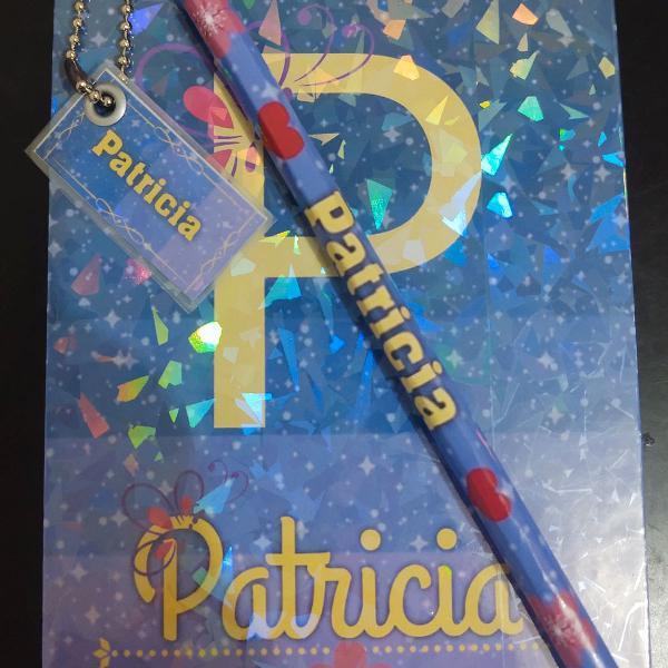 Kit bloquinho personalizado com tag e lápis
