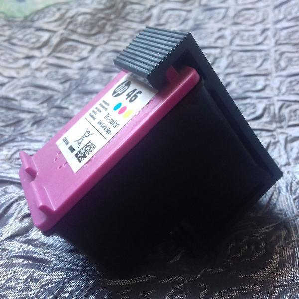 Kit cartucho hp 46 preto + colorido
