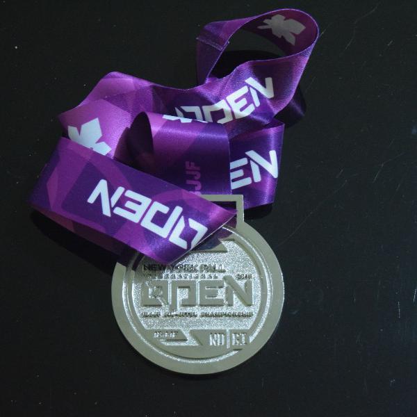 Medalha Jiu Jitsu - Open New York 2019 Ibjjf Nogi (prata)
