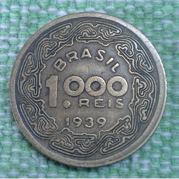 Moeda comemorativa de 1000 réis, 1939