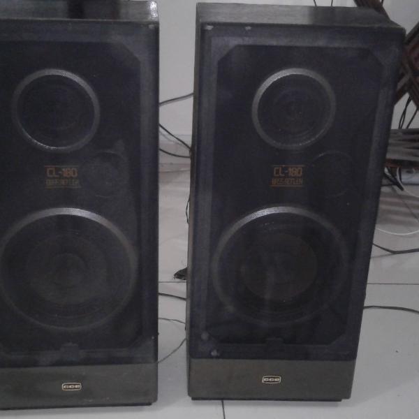 Par de caixas acústicas cce cl-180 # muito novas # raridade