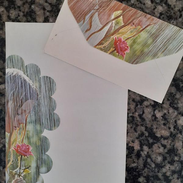 Papel de carta chuva