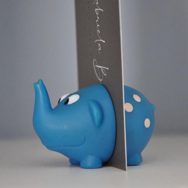 Porta recado de elefantinho azul