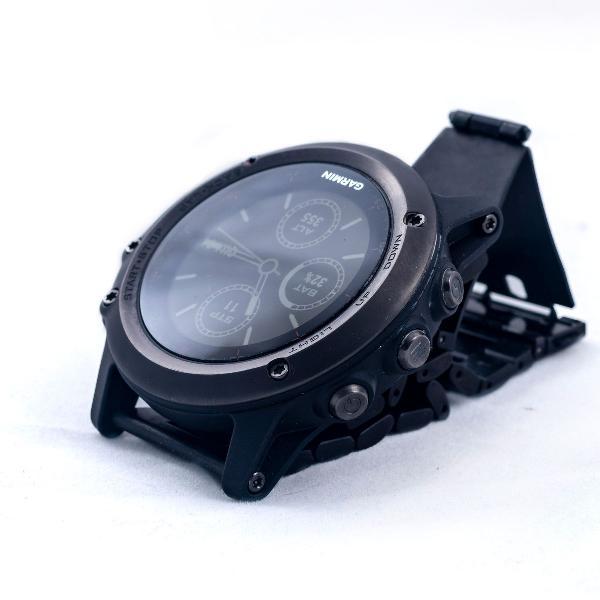 Relógio garmin fenix 3 com pulseira de aço