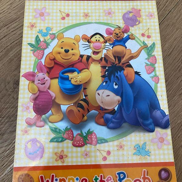 Bloco de papéis de carta ursinho pooh
