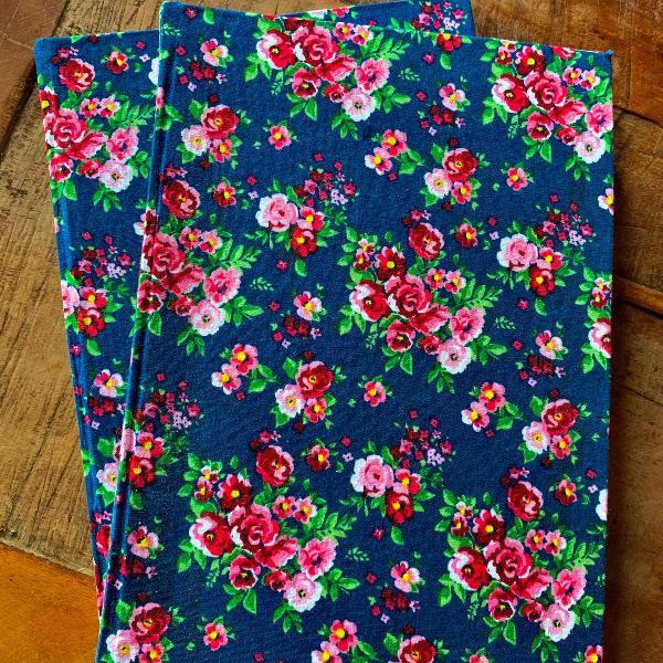 Caderno artesanal - florido