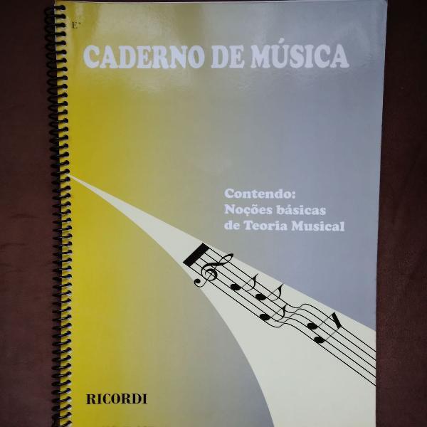 Caderno de música pautado tipo e* com teoria musical