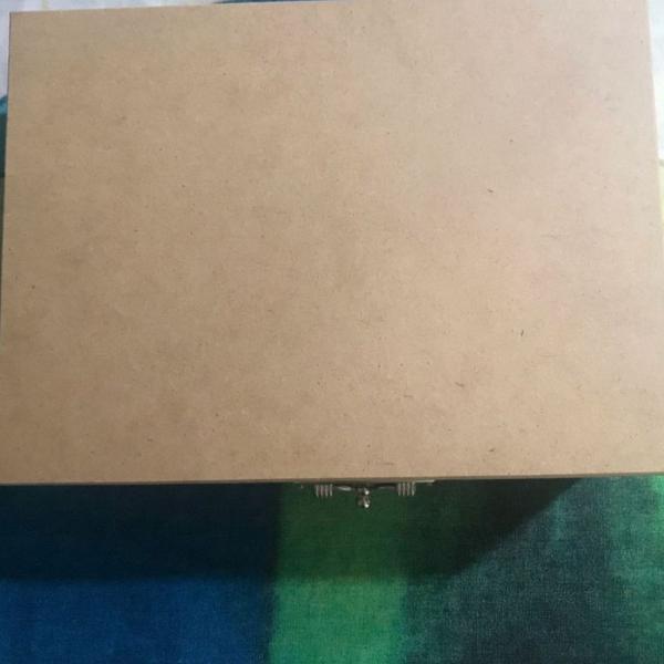 Caixa organizadora de madeira - mdf - nova sem uso