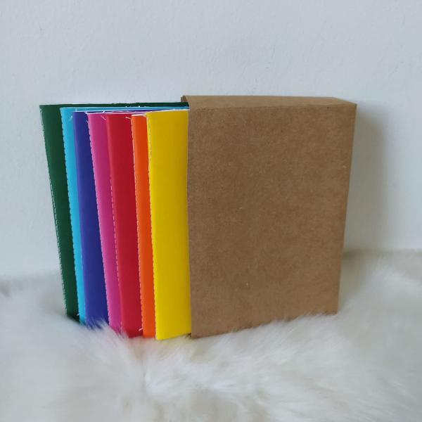 Conjunto 7 mini cadernos artesanais