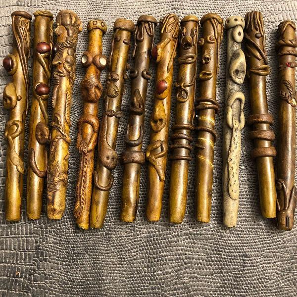 Conjunto de 12 canetas artesanais