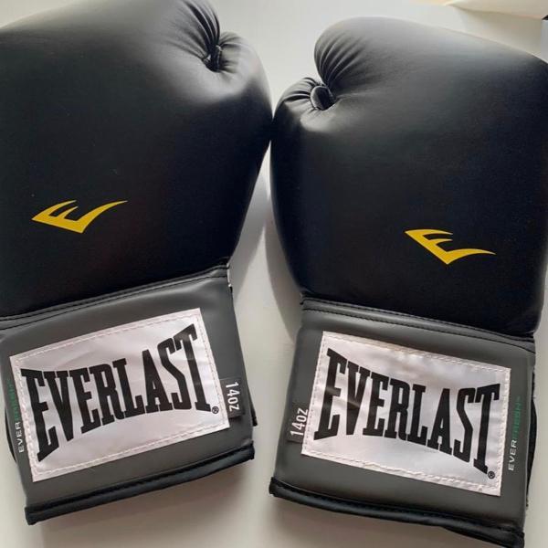 Luva boxe everlast + protetor bucal